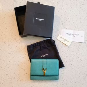 Yves Saint Laurent Leather Card Case